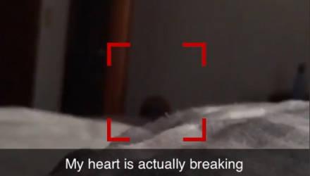 Беременная девушка пришла в ужас, когда разглядела на видео чью-то тёмную голову у своей кровати