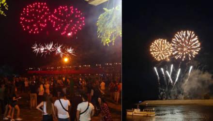 Праздничный салют в Гомеле в День Независимости (фото, видео)