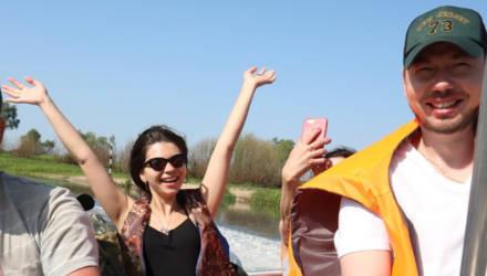 """В Национальном парке """"Припятский"""" на Гомельщине большой популярностью пользуются водные экскурсии"""