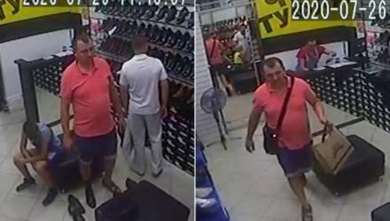 """Девушка-продавец и милиционеры ищут мужчину, который в магазине """"Чей туфля?"""" ушёл не расплатившись"""