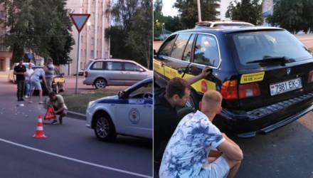 В Гомеле пьяный водитель микроавтобуса задел такси и хотел скрыться. Догнали и остановили очевидцы