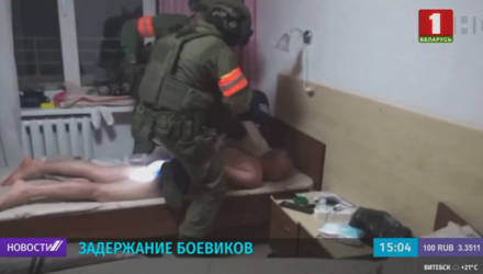 Под Минском задержаны 32 боевика иностранной частной военной компании (видео)