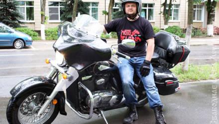 Шлем, отпугивающий смерть, и чувство свободы, или Как парень покоряет дороги Гомельщины на «японце» из Америки