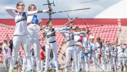 В Гомеле на стадионе «Луч» проходит Республиканская спартакиада ДЮСШ по стрельбе из лука