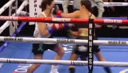 Самый быстрый нокаут в истории женского бокса попал на видео