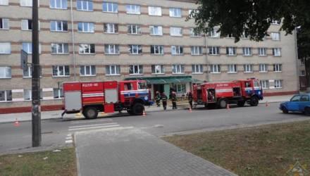 Пожар в общежитии в Гомеле