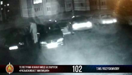 В Чечерске неизвестный пытался открыть двери припаркованных автомобилей
