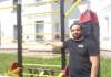 Жлобинский бизнесмен установил во дворе спортивный тренажёр