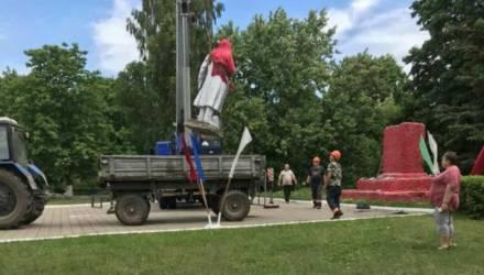 В Светлогорском районе неизвестные разбили памятник Ленину