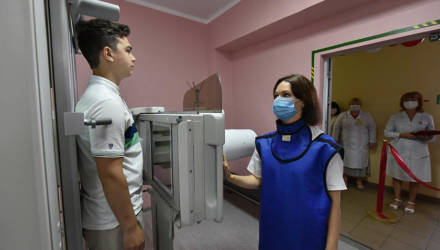 В гомельской поликлинике на улице Бочкина модернизировали рентгенкабинет