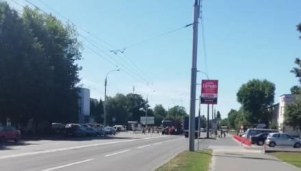 """В Гомеле кто-то подбил детей выйти на пешеходный переход и размахивать бчб-флагами. Гомельчане грозятся """"открутить башку"""" организатору"""