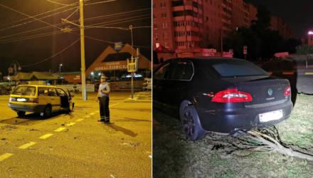 В Гомеле на Речицком проспекте водитель с признаками опьянения совершил лобовое ДТП