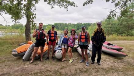 Работники Гомельской таможни приняли участие в водном походе на катамаранах и байдарках