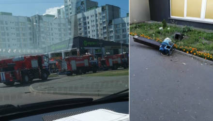 """В гомельском """"Евроопте"""" на Косарева задымил двигатель вентиляции – приехали спасатели"""