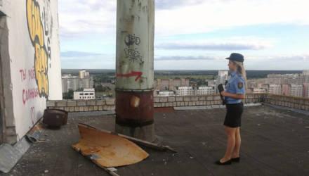 Есть проблема: в Гомеле дети бегают по крышам