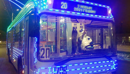 В Гомеле можно прокатиться на праздничном троллейбусе