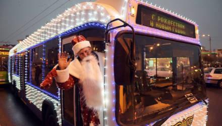 Доехать до праздника. Как будет работать общественный транспорт Гомеля в новогоднюю ночь