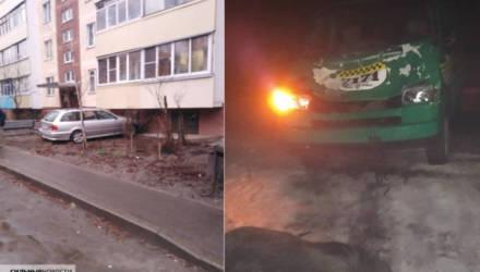 В Гомеле водитель BMW въехал в многоэтажку, а на трассе региона в такси влетел лось