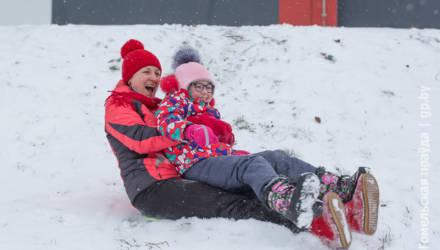 Сильный мороз не мешает гомельчанам радоваться зиме