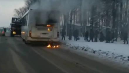 В Жлобине на ходу загорелся пассажирский автобус