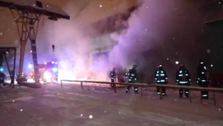 В Гомеле горела компрессорная на территории завода «Центролит»