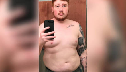 Толстяк отказался от фастфуда с алкоголем и наглядно сравнил, что ЗОЖ сделал с его телом за 4 года