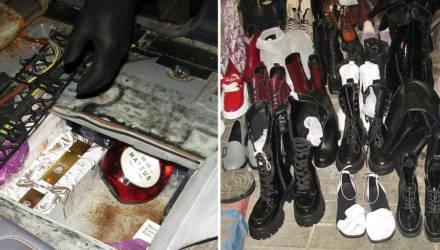 В тайнике с двойным дном легкового Mercedes гомельские таможенники нашли 75 кг одежды, обуви, алкоголя и парфюмерии