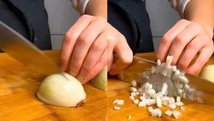 """Шеф-повар из """"Тиктока"""" показала, как легко и быстро нарезать лук, и мы все делали это неправильно"""