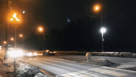 """В Гомеле на Советской установили светодиодные дорожные знаки, которые по ночам """"чувствуют"""" пешеходов поблизости"""