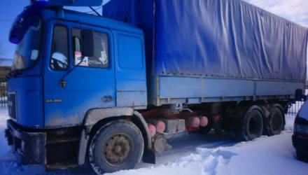 Грузовик MAN с 14 тоннами металлолома без документов задержали под Гомелем – владельцу грозит штраф с конфискацией