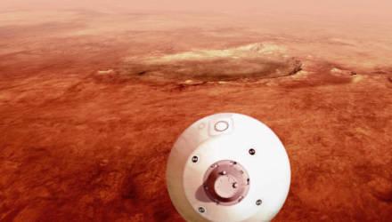 Марсоход Perseverance совершил посадку на Марс и уже переслал первое фото