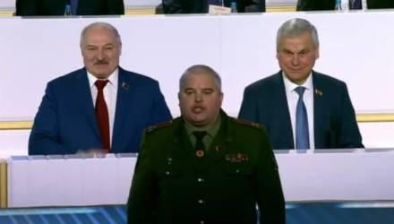 Гомельский военком Кривоносов получил от Лукашенко не только «заряд энергии», но ещё и медаль