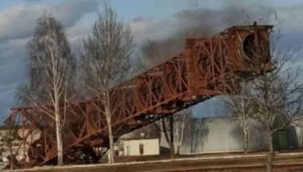 Как взрывали 105-метровую башню в Светлогорске – видео