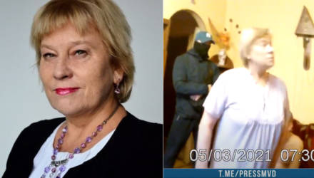 В Гомеле задержали 65-летнюю экс-преподавательницу БелГУТа. Милиционеры показали видео, но кое-что смутило