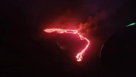 В Исландии произошло крупное извержение вулкана Фаградалсфьяль