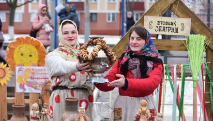 Попрощались с зимой: гомельчане отпраздновали Масленицу