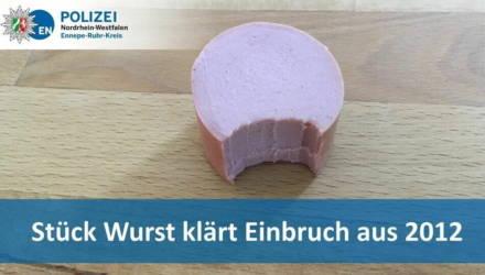 Немецкая полиция раскрыла дело девятилетней давности благодаря недоеденной колбаске, оставленной квартирным вором