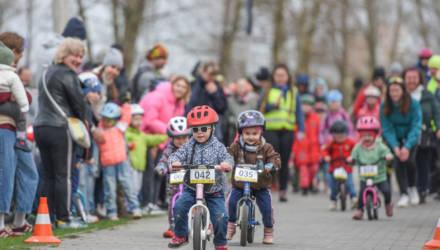 «Гони, Соня, гони!»: в Гомеле провели детскую велогонку YellowBike 2.0