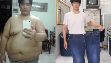 Парень изменился до неузнаваемости, похудев за год на 80 кг, и такого результата он сам не ожидал