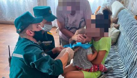 Гомельские спасатели освободили ребёнка, надевшего на голову пластиковое сиденье унитаза