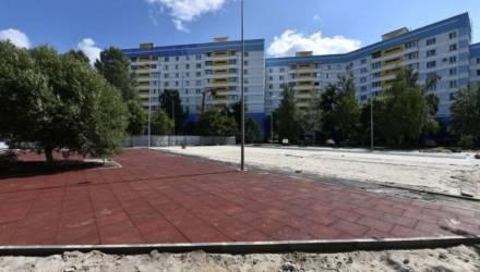 В Советском районе Гомеля строят крутой спортивно-игровой комплекс